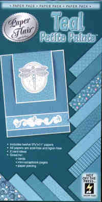Hot off The Press Paper Flair Teal Petite Prints Paper Pack