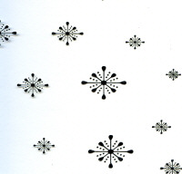 Foiled Acetate - Silver Snowflakes