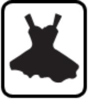 Evening dress paper punch