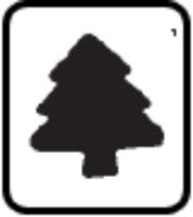 Medium Button Punch - Christmas Tree