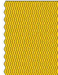 Peel Off Stickers - Wavy Border Lines