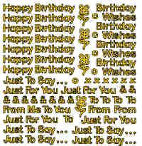Tiny Birthday Mix Peel Off Stickers -