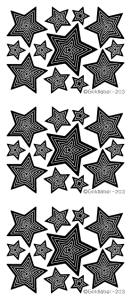 Concentric Stars Peel Off Stickers
