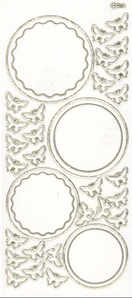 Transparent Circle Frames Peel Off Stickers
