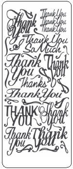 Peel Off Stickers -Thank You Messages