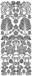Peel Off Stickers Woodland Images - Silver