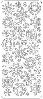 Snowflakes Peel Off Stickers