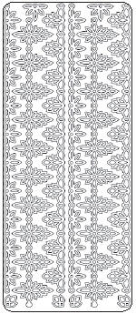 Peel Off Stickers - Lace Chain Border
