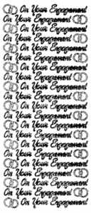 Peel Off Stickers - On Your Engagement