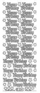 Happy Birthday Holographic Peel Off Stickers