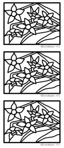 Stained Glass Daffodils Peel Off Stickers