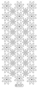 Daisies Holographic Peel Off Stickers