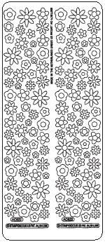 Flower Eyelets Peel Off Stickers