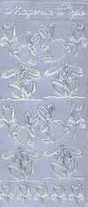 Magenta Peel Off Stickers - Springtime