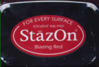 StazOn Ink Pad - Blazing Red