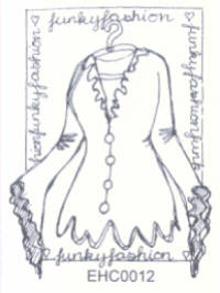Elusive Images Frilly Top Unmounted Rubber Stamp