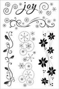 Hero Arts - Clear Design Acrylic Stamps - Joy Borders