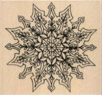 Holly Berry House Large Snowflake in Bloom Medallion Rubber Stamp