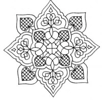Medallion Stamp - Heart Lace