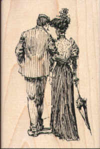 Inkadinkado Madame et Monsieur Rubber Stamp