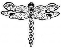 Oasis Rubber Stamp - Dragonfly