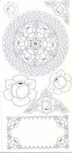 Elusive Images Rose Mandala Unmounted Rubber Stamp Set
