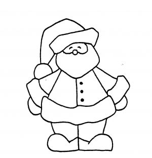 Holly Berry House Father Christmas Wood Mounted Rubber Stamp