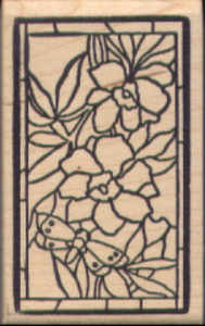 Magenta - Stained Glass Floral