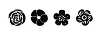 Judikins - Woodcut Flower Qbit