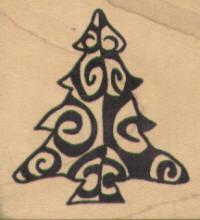 Magenta - Bold Swirl Christmas Tree