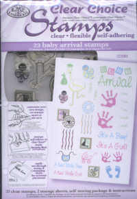 Clear Choice Stamps - New Baby Arrival