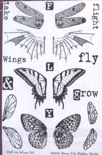 River City Rubber Works Wings Clear Stamp Set