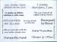 River City Rubber Works Stamper's Sayings Clear Stamp Set