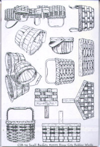 River City Rubber Works Small Baskets Clear Stamp Set