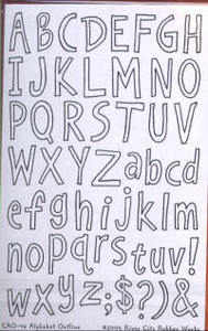 River City Rubber Works Alphabet Outline Clear Stamp Set