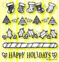 Will 'n' Way Clear Stamp Set - Holiday Borders