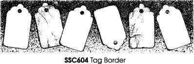 Stampendous Perfectly Clear Tag Border Unmounted Rubber Stamp