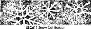 Stampendous Perfectly Clear Snow Dot Border Unmounted Rubber Stamp