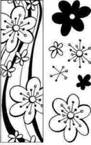 Stampendous Perfectly Clear Retro Border Unmounted Rubber Stamp Set