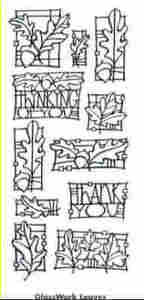 Stampendous Perfectly Clear Glasswork Leaves Unmounted Rubber Stamp Set