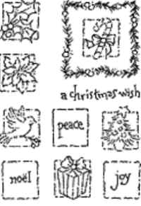 Stampendous Perfectly Clear Christmas Mosaic Stamp Set