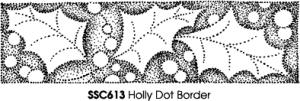 Stampendous Perfectly Clear Holly Dot Border Clear Stamp