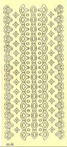 Lemon Lace Border 2 Peel Off Stickers