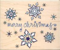 Inkadinkado - Merry Christmas Snowflakes