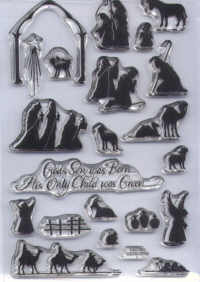 Stampendous Perfectly Clear Nativity Silhouetted Unmounted Rubber Stamp Set