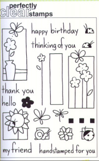 Stampendous Perfectly Clear Garden Box Unmounted Rubber Stamp Set