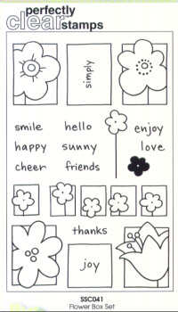 Stampendous Perfectly Clear Flower Box Unmounted Rubber Stamp Set