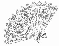 Large Fan Wood Mounted Rubber Stamp