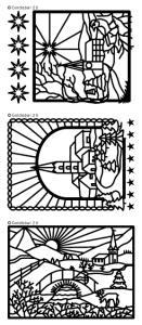 Winter Church Scenes Peel Off Stickers