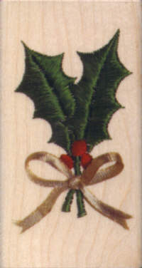 Embroidered Holly